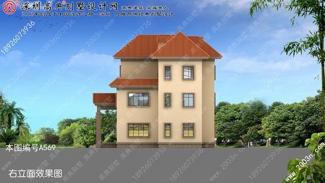 小型別墅設計圖紙農村別墅外觀效果圖3層