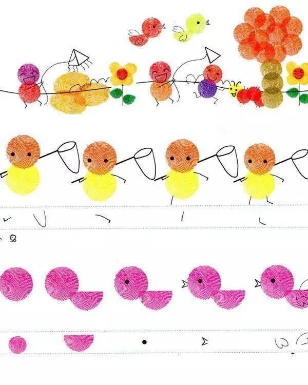 15幅幼儿园优秀指纹画作品,适合3-6岁宝宝,你家孩子也