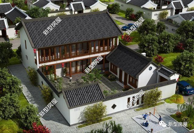 农村别墅选中式好?中国人就该建合院?图片