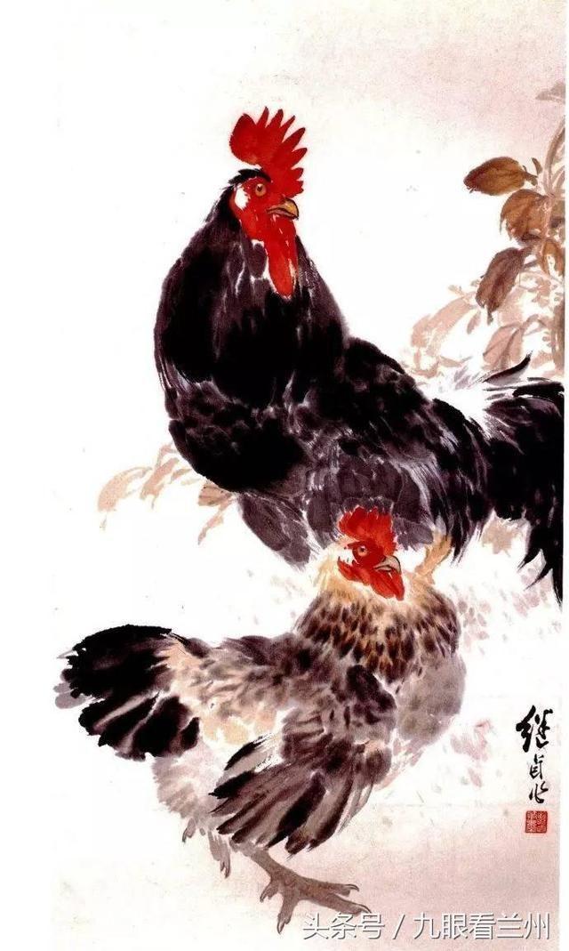 画,动物画一代宗师,是少有的工笔白描,重彩,小写意,大写意俱能的画家.