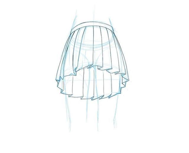 ps手绘板绘画教程第11套,百褶裙参考,不同角度动作下的裙子褶皱,绅士