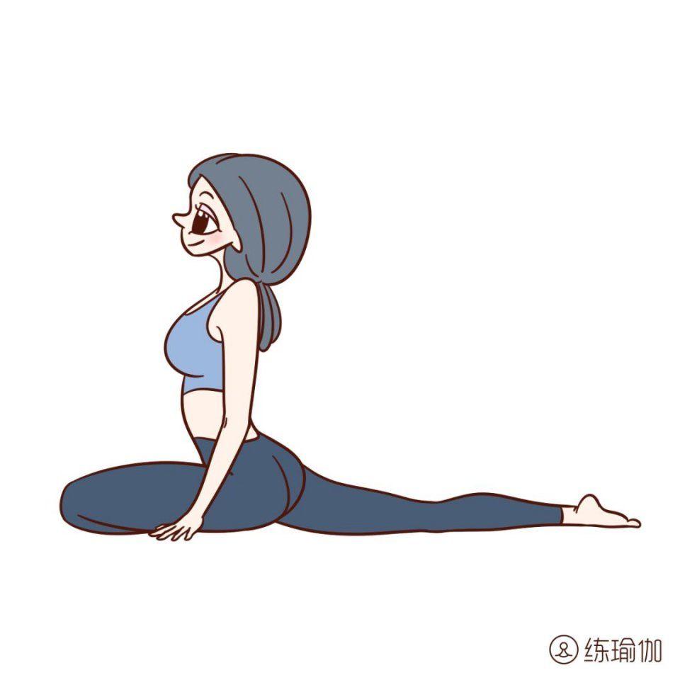 """6个污垢经络""""开髋术"""",瘦身故事打通体内经典,清扫瑜伽瘦腿瘦腿图片"""
