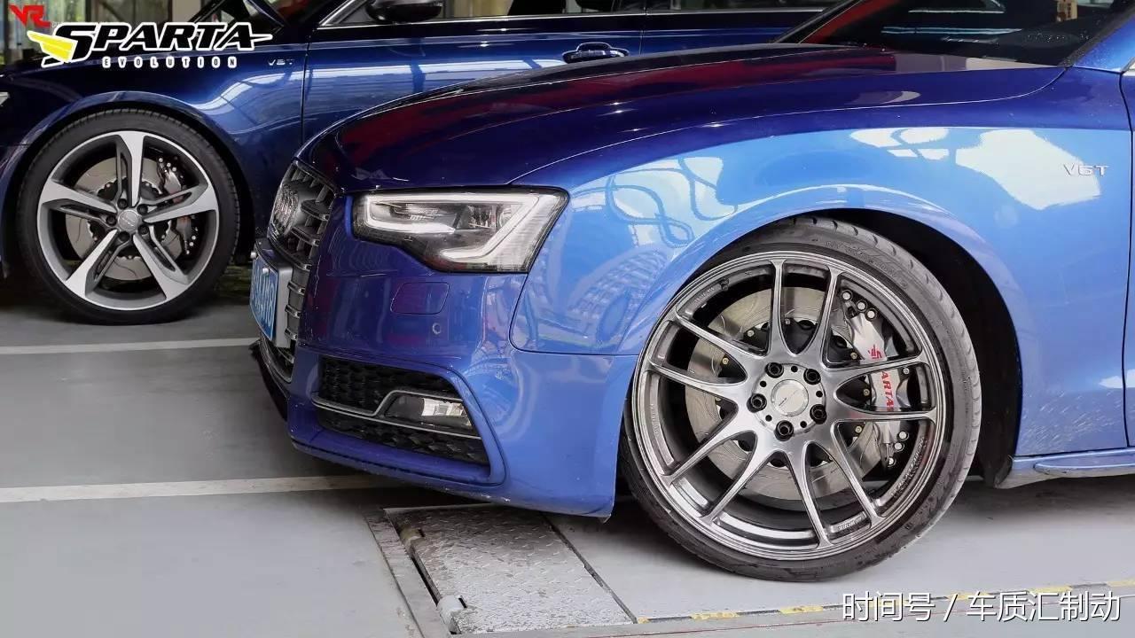 性能刹车|奥迪s5改装sparta t6pa银色刹车-北京时间