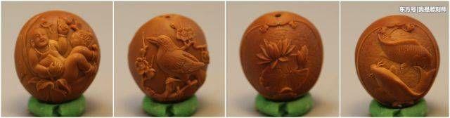我是雕刻师缪小明橄榄核雕刻福禄寿喜财手串