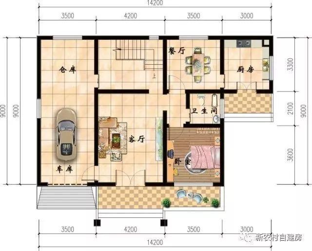 6款農村別墅設計圖,帶獨立廚房有柴火灶,開春建房不用