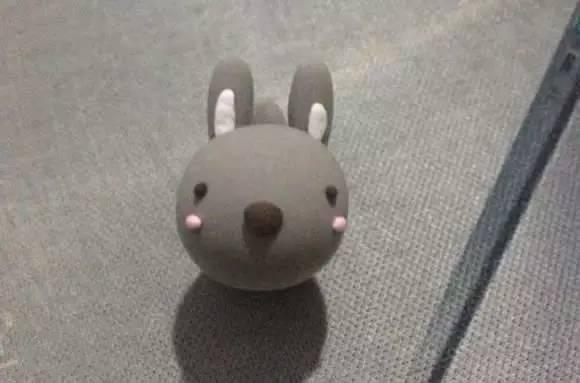 可爱的萌灰兔子,教你用超轻粘土轻松完成