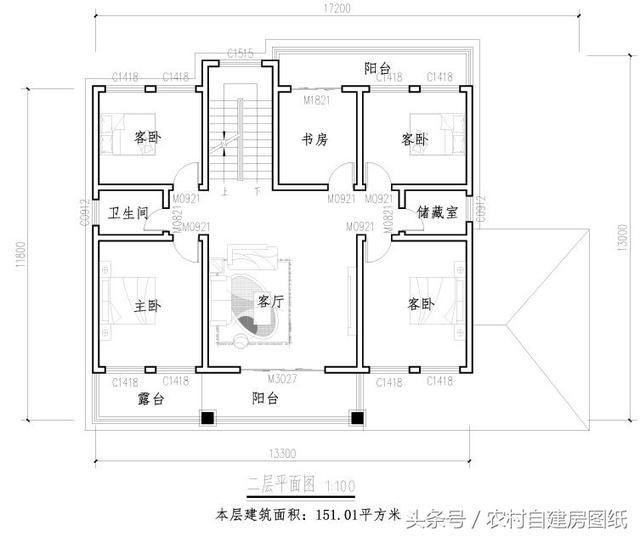 5款帶堂屋農村別墅設計圖,2款三層,3款二層,哪款最吸引你?