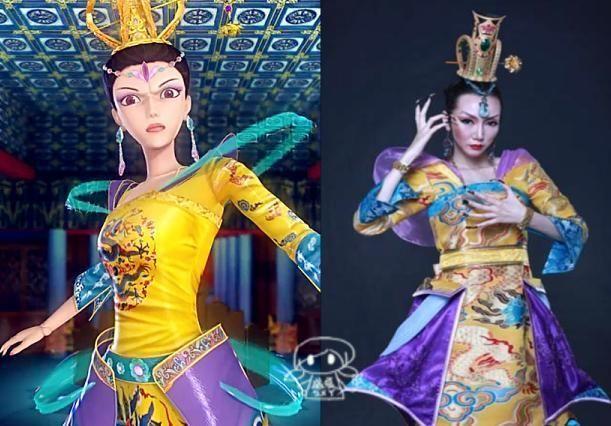 精灵梦叶罗丽真人版人物造型,辛灵最温柔,曼多拉女王神还原图片
