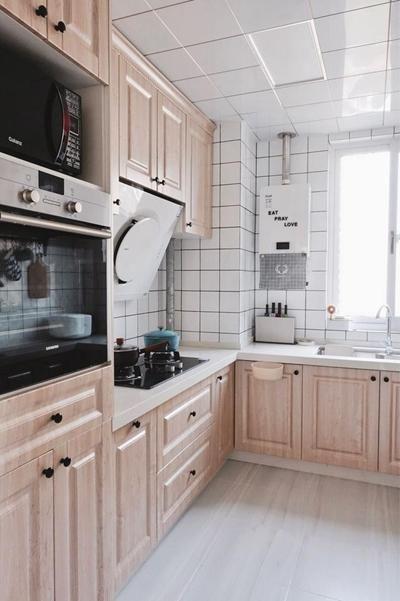 厨房使用这3种瓷砖铺贴方式,装修出抖音同款