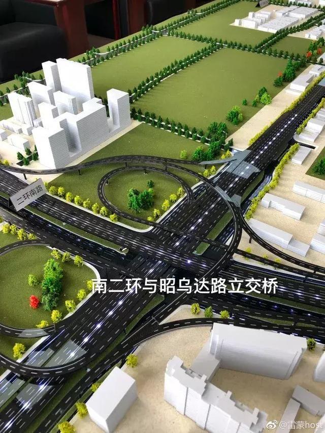 其中,呼和浩特市昭乌达路哲里木路改造提升工程南起南二环快速路,北