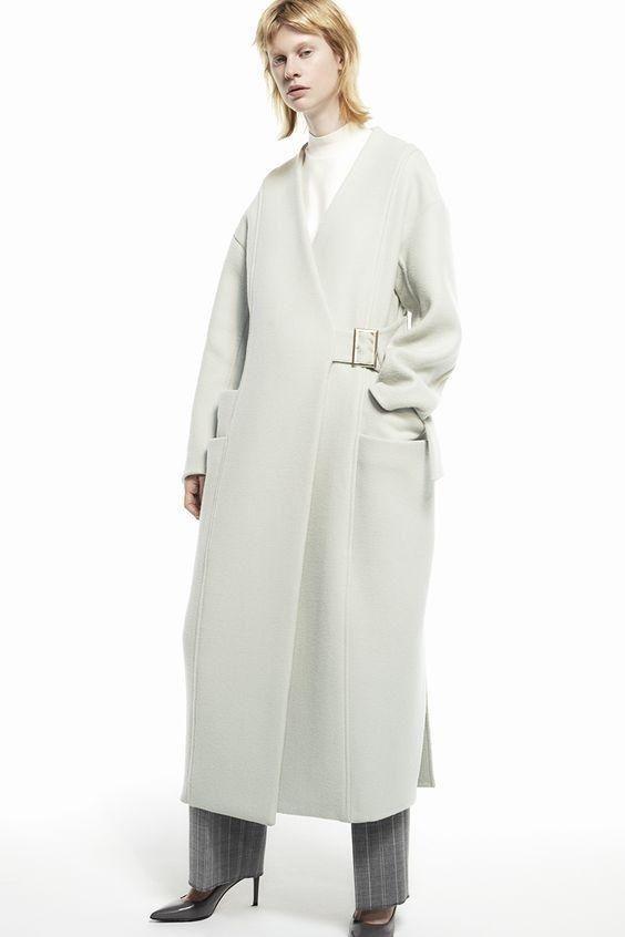 服装款式图版型简洁,裁剪利落的廓形大衣款式精选图