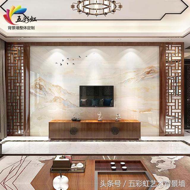中式电视背景墙多款设计效果图,高颜值家装靠它