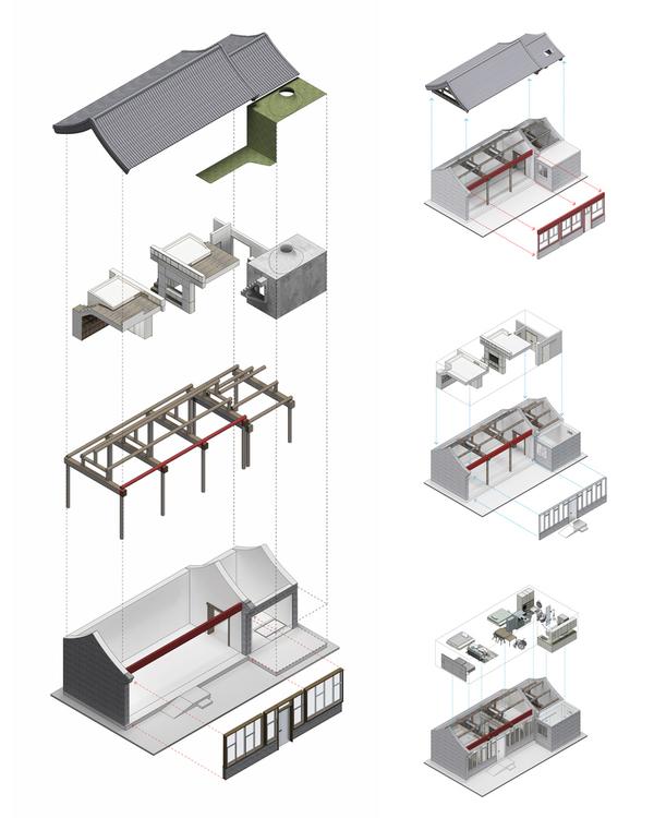 北京四合院加盖钢结构承重,满足两代人居住需求