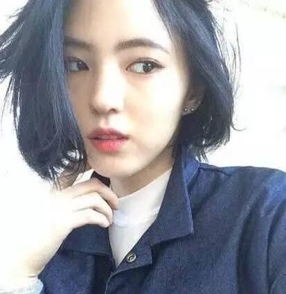 韩国齐肩短发发型:2017流行齐肩秒变小潮人一枚