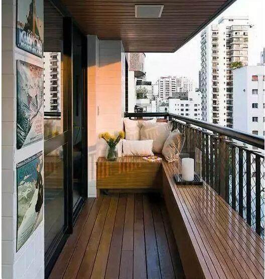 最后防腐木不仅适用于阳台,还可以用于卫生间,装修效果都不错,喜欢的
