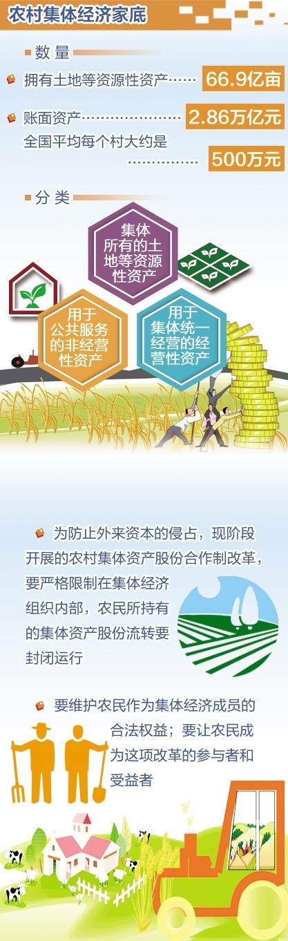 农村集体产权制度改革全面铺开 一图读懂改革目标