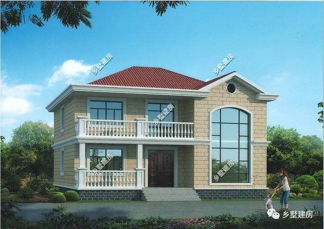 农村自建两层独栋别墅,高大美观,媲美小洋房,给你最好