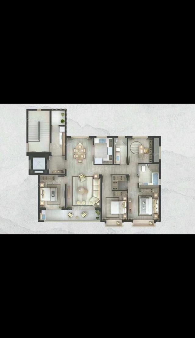 165平米米房子设计图