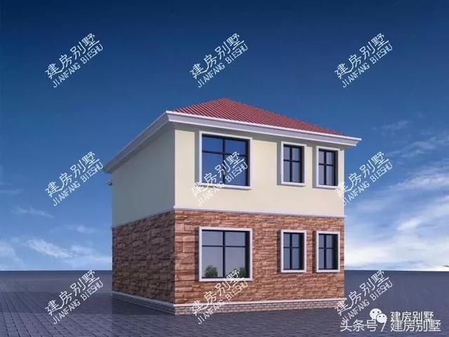 外墙同样用了文化石和真石漆两种装饰材料,屋顶用红色的琉璃瓦来铺装.