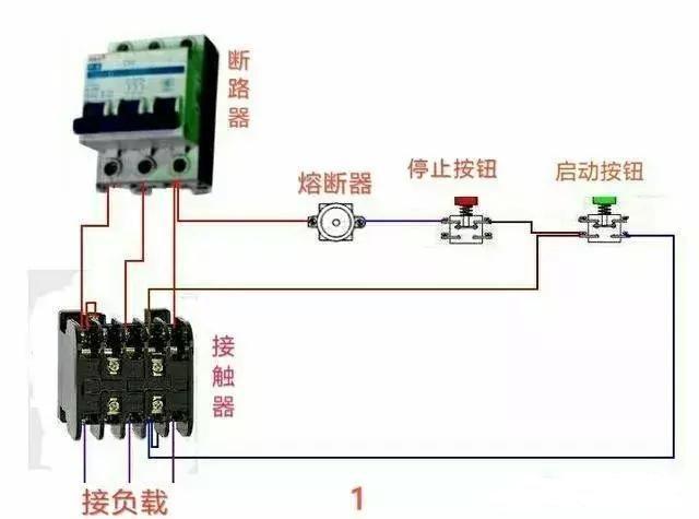 常用交流接触器实物接线图,简单明了,易懂-北京时间