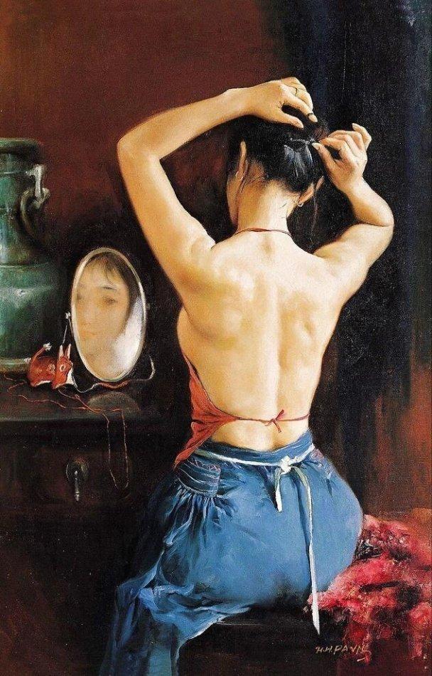 优美人体视频_中外超美写实人体油画欣赏 - 608x950 - jpg