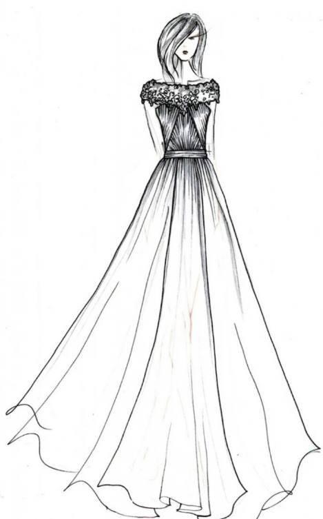 十二星座专属手绘婚纱裙,水瓶座霸气女王范,双鱼座简单小清新 !