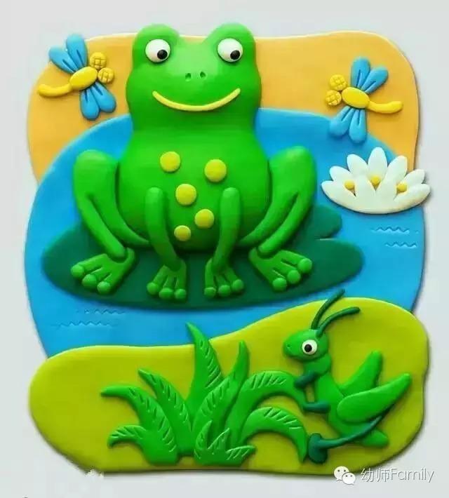 橡皮泥手工制作步骤图片青蛙
