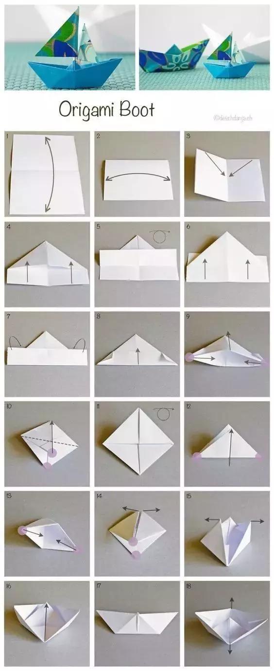 儿童折纸小船大全图解