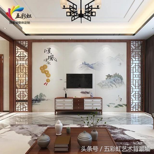 11款新中式花格边框搭配电视墙,享受意境,结庐人境!图片