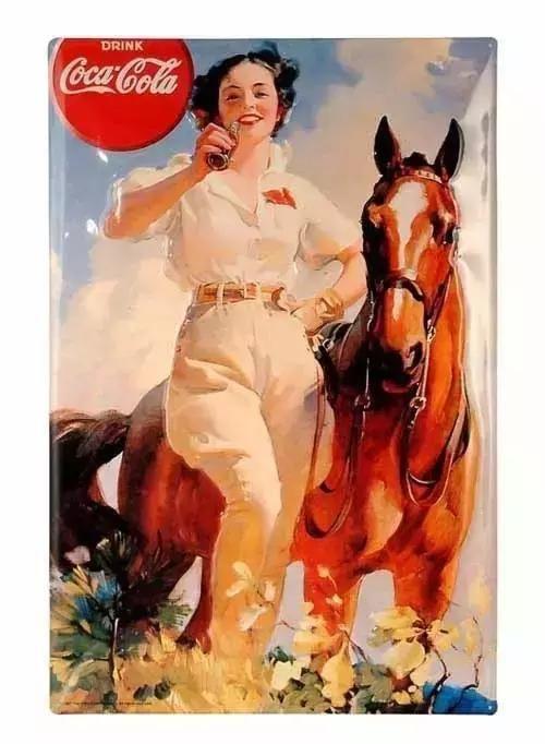 从可口可乐百年海报,看西方女郎穿着变化!
