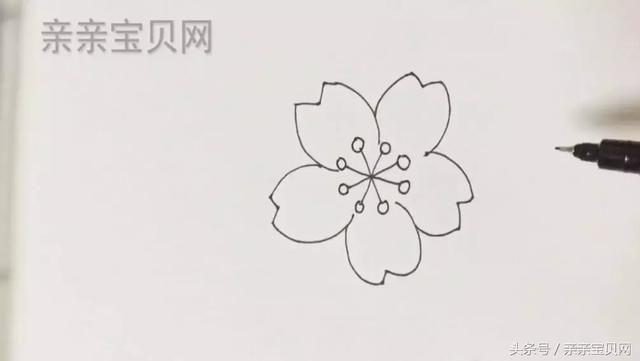 油性笔,油画棒,a4纸或速写本 视频教学点这里漂亮的桃花步骤分解 第九
