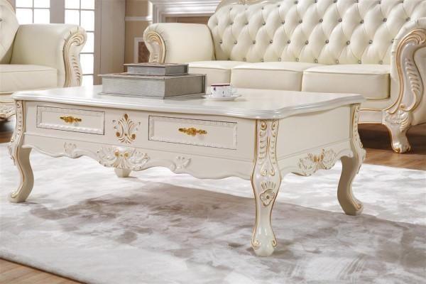 欧式家具之茶几 欧式茶几一般是和欧式沙发配套的,石材为面板,四条腿