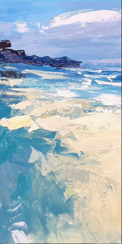 今天我们就一起来看看画家手里油画颜料下的大海吧?
