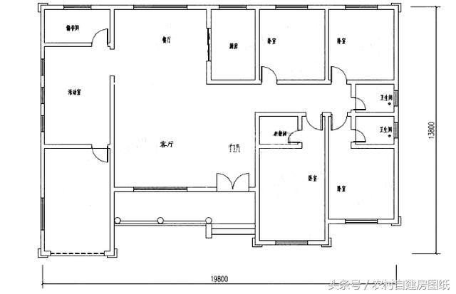 6款一层农村自建房设计图,20万的小别墅,款款带车库图片