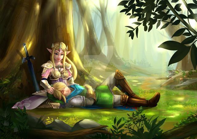 2. 塞尔达公主和林克图片
