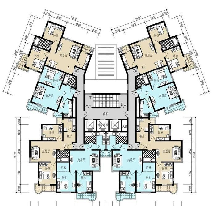 86平方米房子設計圖