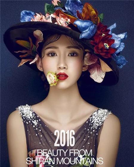 法式名媛风格的新娘造型,一款奢华夸张感十足的帽子,遮掩住新娘的图片