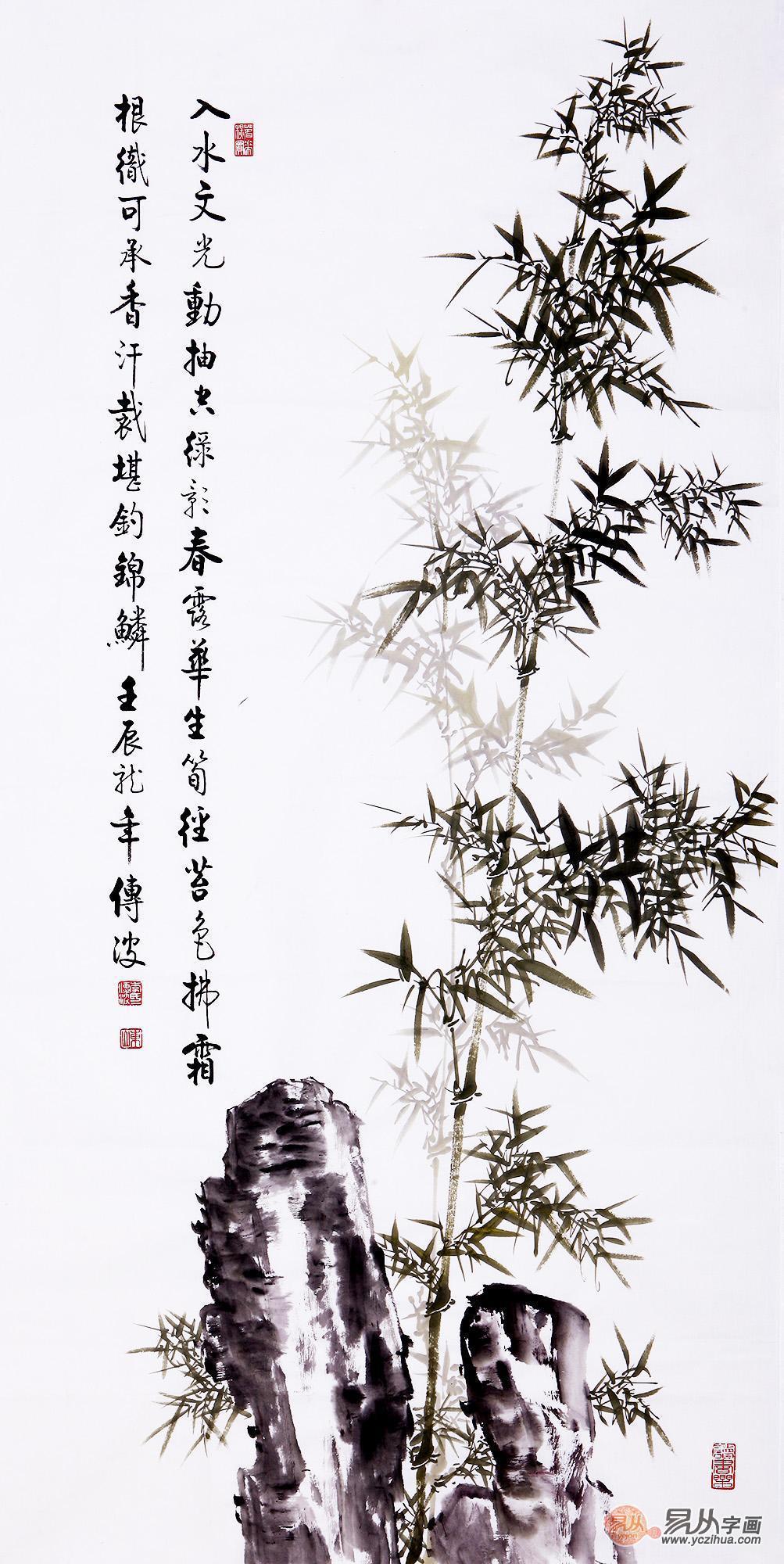 擅长画竹子的画家是谁 李传波了解一下图片