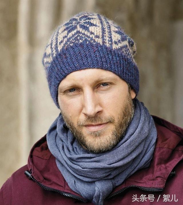 编织帽子帅气绅士的男士间色编织帽子(有图解)