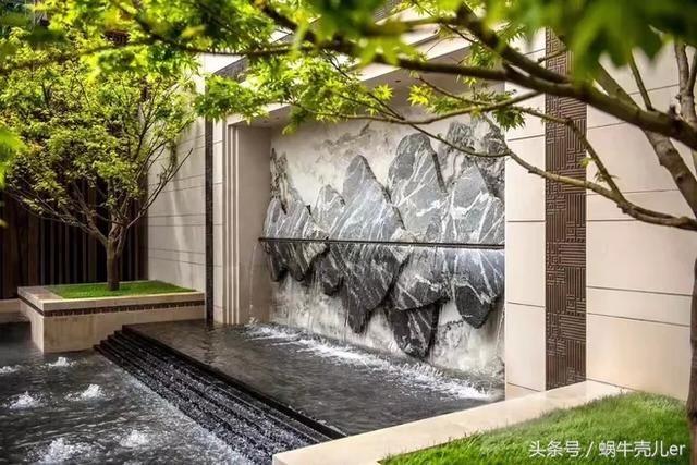 别墅庭院花园景观设计之景墙