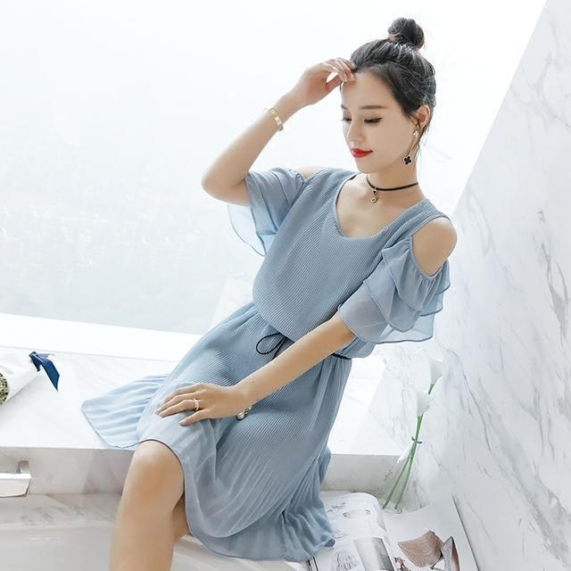 美女爱出汗的雪纺们,来一件a美女唯美的美眉裙让大夏日变胸如何图片