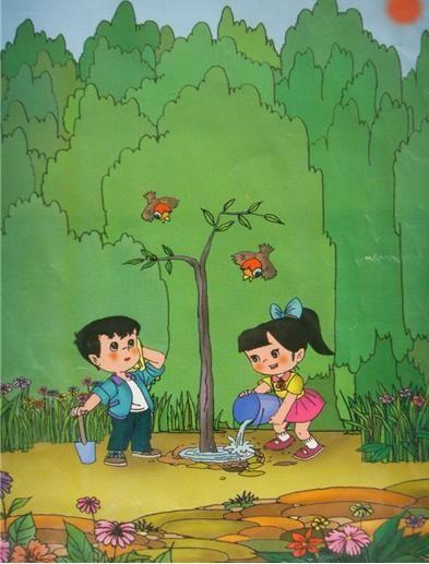 二年级看图写话图片及作文植树篇 植树 春风吹走了冬爷爷,迎来了春姑