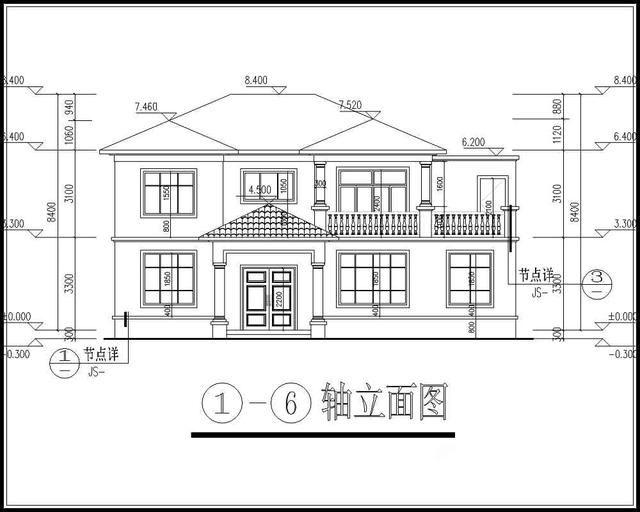 14x9米农村二层房屋设计图,8间卧室,20万左右-北京