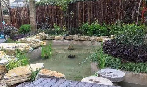 家庭园艺|花园,庭院自然风鱼池小院,家里有个这个真好