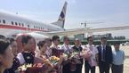 郑州航展明星公务机 波音737-BBJ飞抵机场