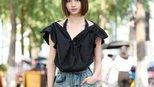 杭州街拍, 清凉夏日穿淡色会让人看上去更加舒适