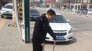 蒲城交警:携手参与环境保护 传递社会正能量