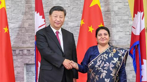 习近平会见尼泊尔总统