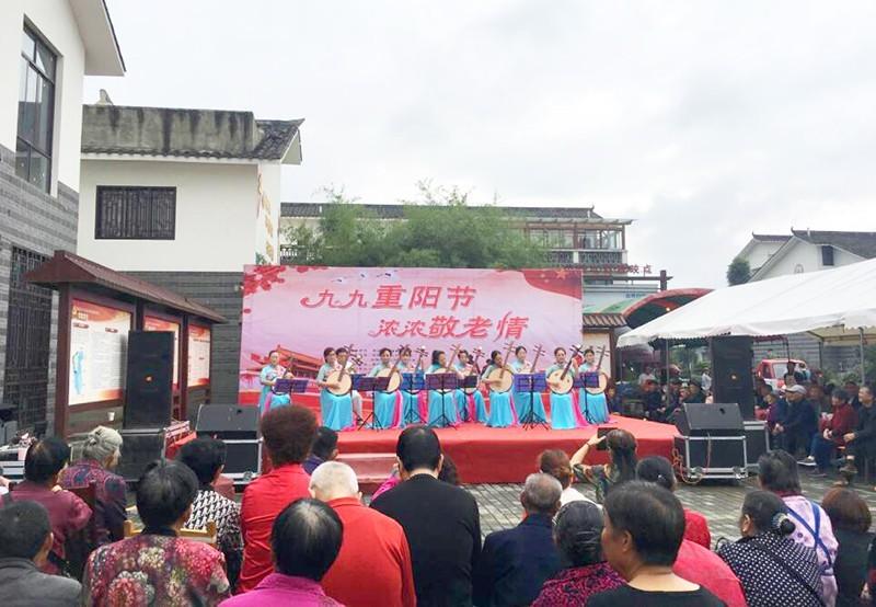 四川崇州:觀勝鎮聯義村舉行2019年重陽