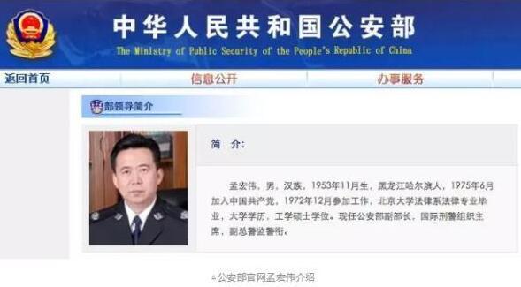 """国际组织发""""寻人启事""""找的公安部副部长落马了"""